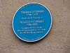 Blue Plaque o Thomas and Martha Combe , printers to the University and founders of   St Barnabas church Oxford